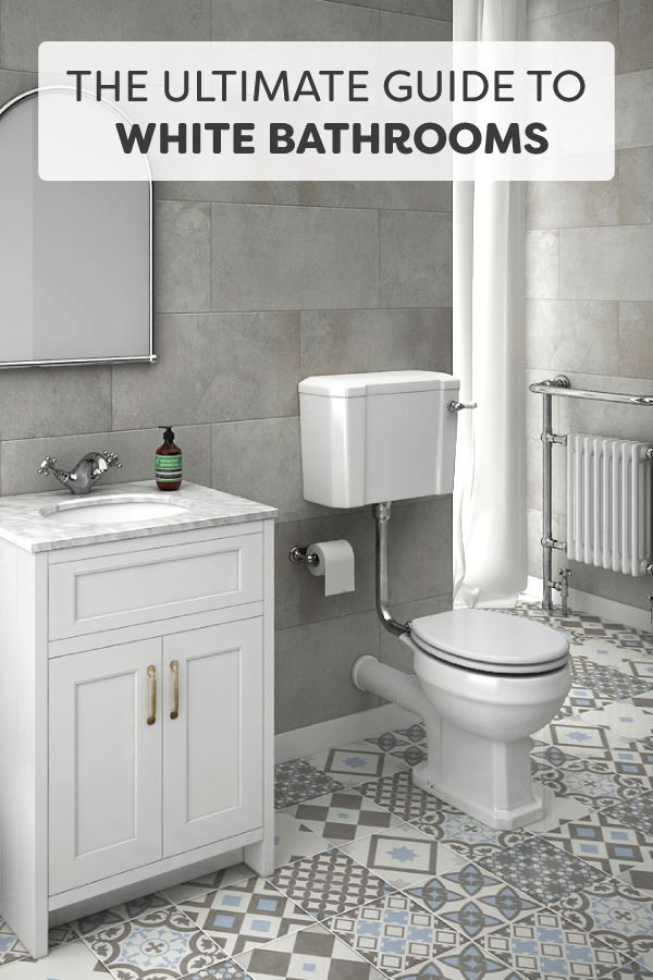Best White Bathrooms Images On Pinterest Bathroom Ideas Room