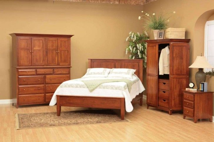 Bedroom:Easy Tips To Create Perfect Basement Bedroom Ideas Solid Wood Bedroom Furniture For Basement With Biege Painted Wall Also Cone Lamp Shade Plus White Bedding Sets