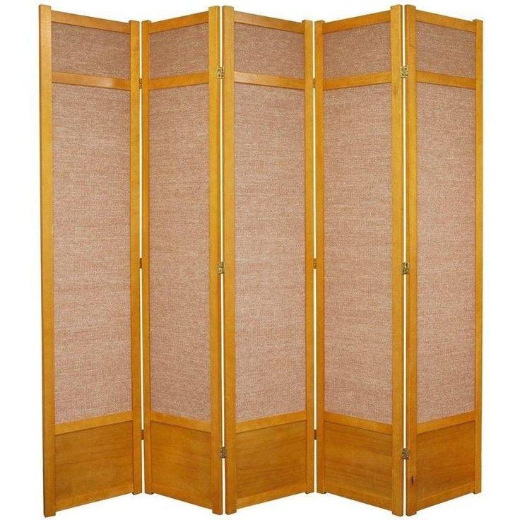83 5 x 72 jute shoji 5 panel room divider jute room dividers and panel room divider - Shoji room divider ...