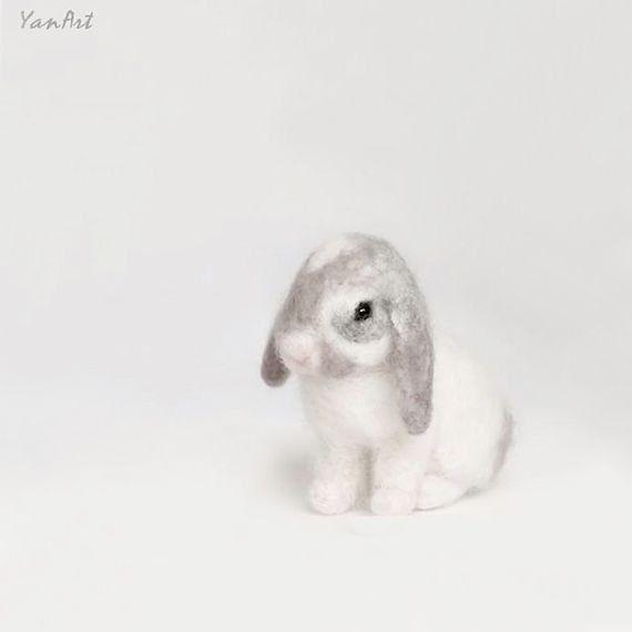 Rabbit+Custom+Realistic+Needle+Felted+Rabbit/+Pet+by ...