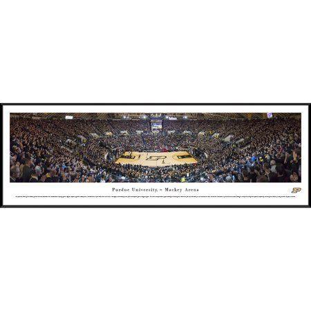Purdue Boilermakers Basketball - Blakeway Panoramas Ncaa College Print with Standard Frame - Blackout Game at Mackey Arena