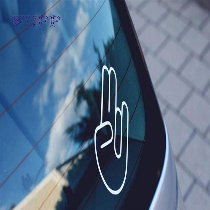 2017 New Car-styling JDM The Shocker Bumper Vinyl Sticker Bomb Window Car Bumper Hand Logo Symbol Wholesale Price Hot17july10 #Affiliate