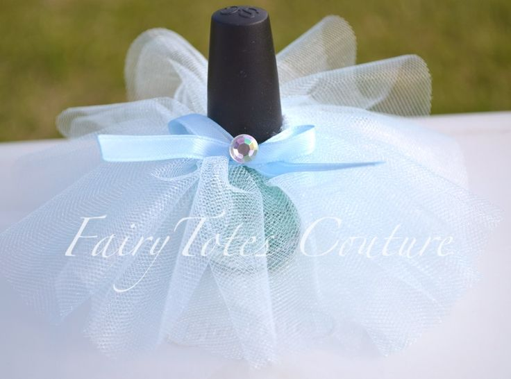 Cinderella Inspired Nail Polish Tutu - Cinderella Party Favor - Cinderella Shower Favor