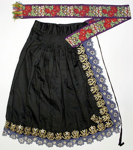 Apron.  Date: 1800–1941. Culture: Slovak. Medium: wool, silk.