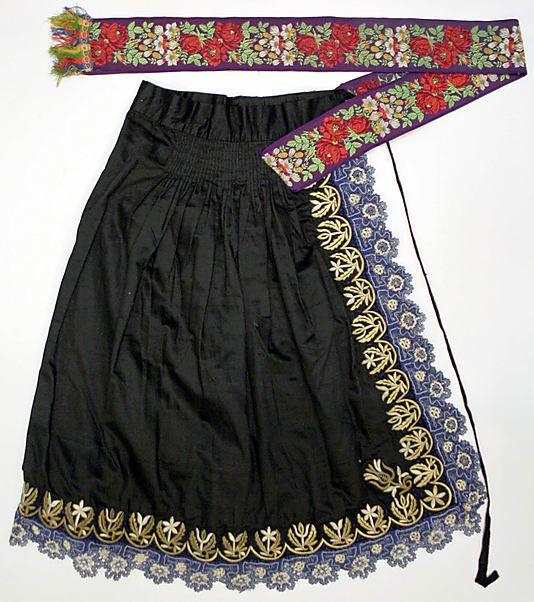 Apron.  Date: 1800–1941. Culture: Slovak. Medium: wool, silk.