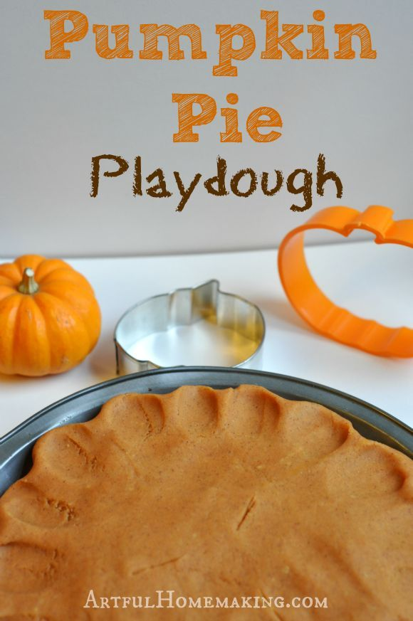 We've been in the mood for pumpkin projects lately. Yesterday my younger children and I mixed up this fun pumpkin playdough, and we had fun making pretend pumpkin pies, pumpkin cookies, and pumpkin rolls. They look surprisingly realistic! I used my tried-and-true favorite playdough recipe and just added spices and food coloring to make it look like pumpkin. Pumpkin Pie Playdough Ingredients: 3 cups white