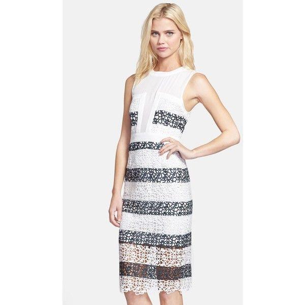 Elliatt Lace & Georgette Midi Dress