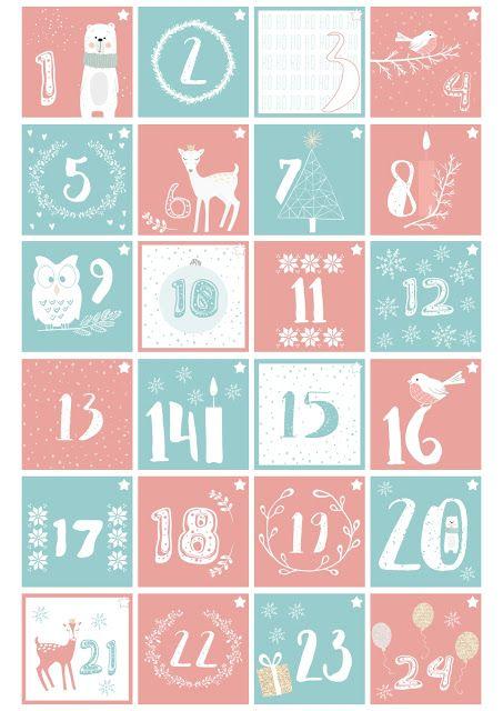 DIY Printable Advent Calendar