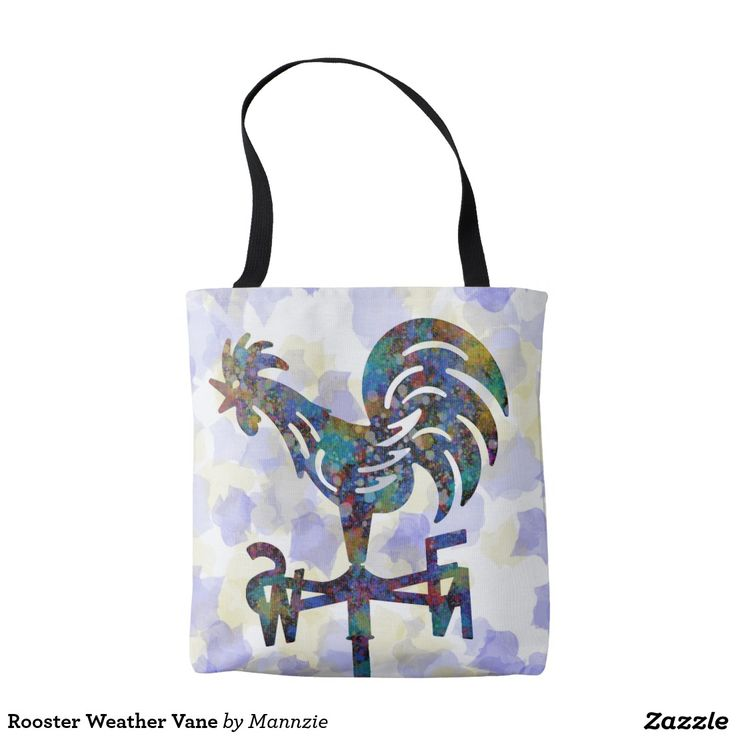 Rooster Weather Vane Tote Bag