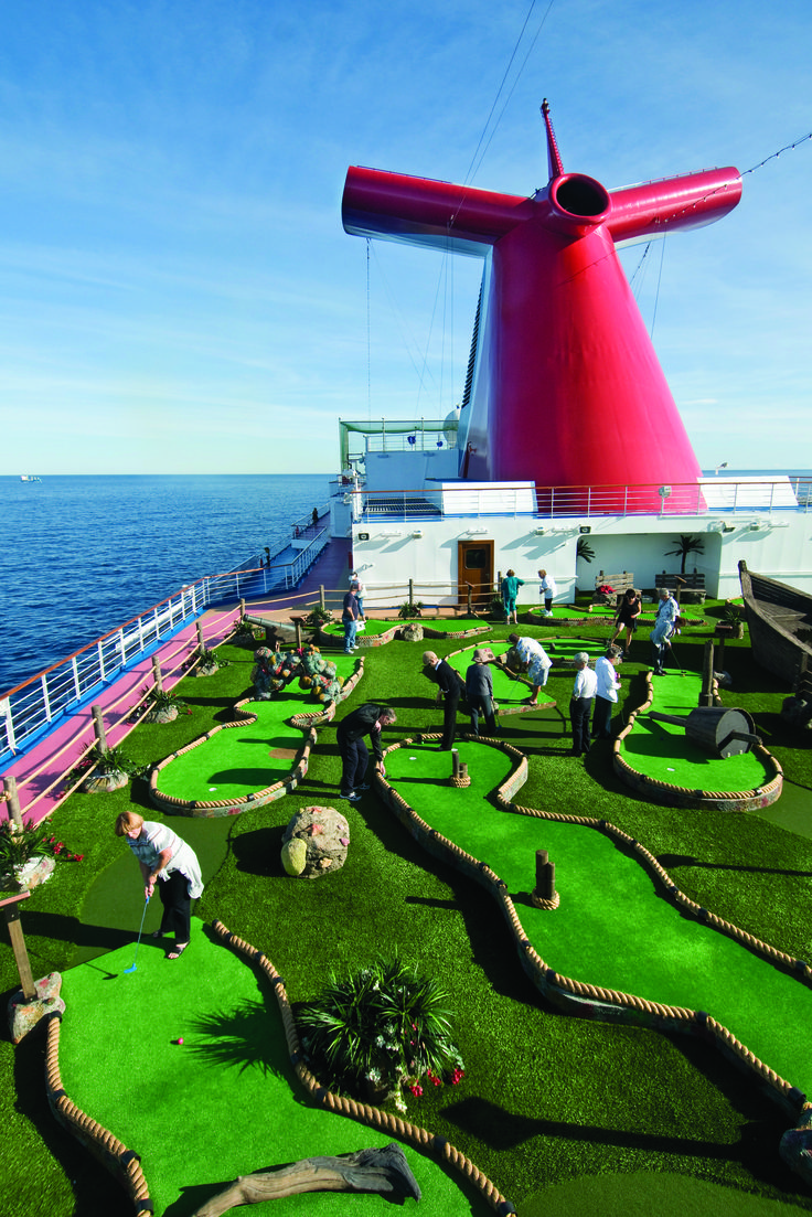 Between mini-golf and open sea views, a #cruise could be your dream family getaway. Plan your's—perhaps aboard this Carnival Dream ship—with T+L's new Cruise Finder.