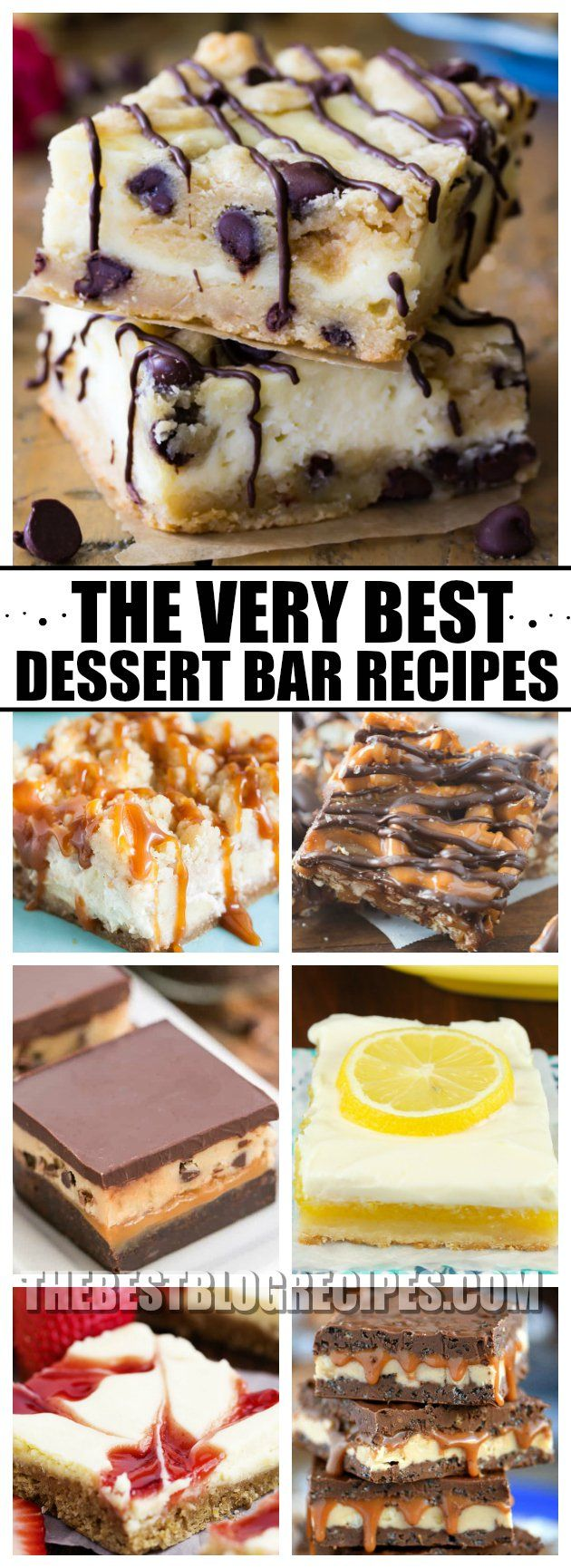 Need a cure for your sweet tooth? Try The Best Dessert Bar Recipes! These bars are the most decadent, sweet, and addicting desserts! One bite of any of these recipes and you will be hooked! via @bestblogrecipes