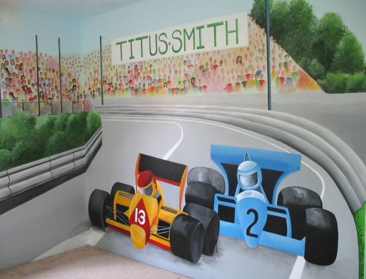 Race Car Mural (little boy's room)