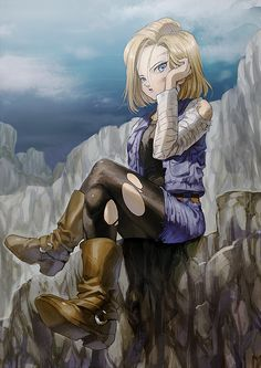 Android 18 #dbz - Visit now for 3D Dragon Ball Z shirts now on sale!
