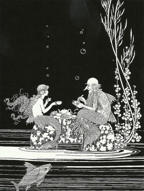 "Ida Rentoul Outhwaite (1888 – 1960), ""The Merman's Glass House"" by sofi01 on Flickr."