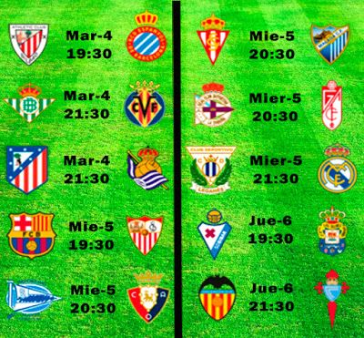 La Liga Full: Horario Jornada 30