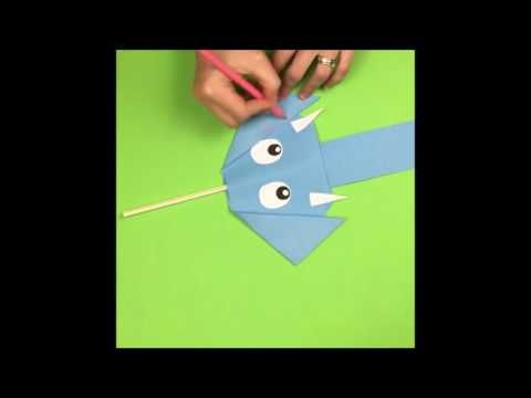 Funny paper elephant via paper magic