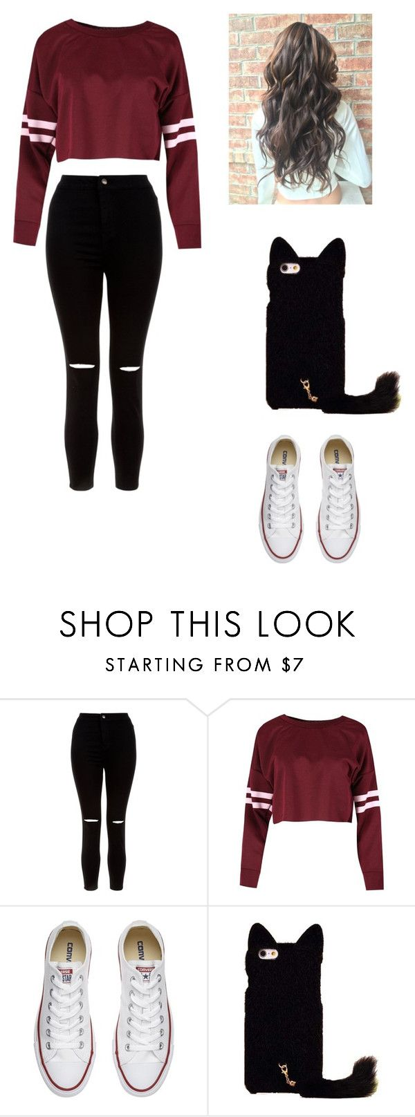 """""""Untitled #220"""" by karenrodriguez-iv on Polyvore featuring New Look and Converse"""