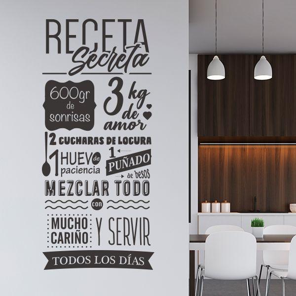Vinilo Frase La Receta Secreta Vinilos Frases Vinilos Para Cocina Vinilos