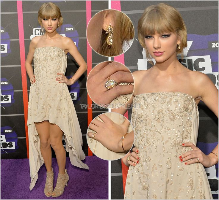 CMT Music Awards | Nashville, TN | June 5, 2013 Neil Lane jewelry Uncharacteristically delicate jewelry completed Taylor's accessories at the 2013 CMT Music Awards. That, combined with the odd...