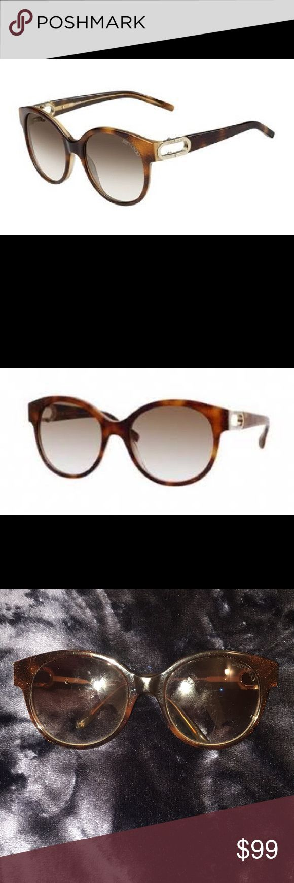 Jimmy Choo Allium Sunglasses Glitter Tortoise Jimmy Choo Allium Sunglasses in color M2R02.   Glitter tortoise color  Comes with Sunglasses, case, and box.  100% authentic.  Lenses and frame have signs of use and some light scratches Jimmy Choo Accessories Sunglasses