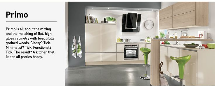 The new 2014 range of LINE N handleless kitchens from Nobilia - küche nobilia primo