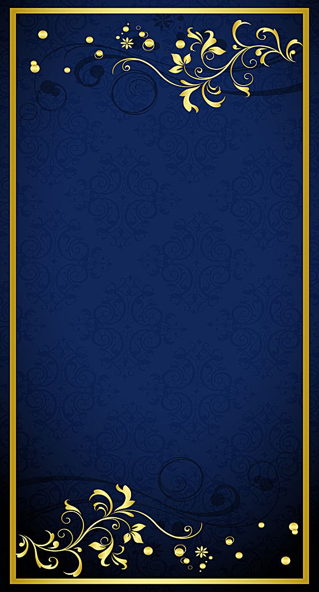 Blue Gold Pattern Shading Background