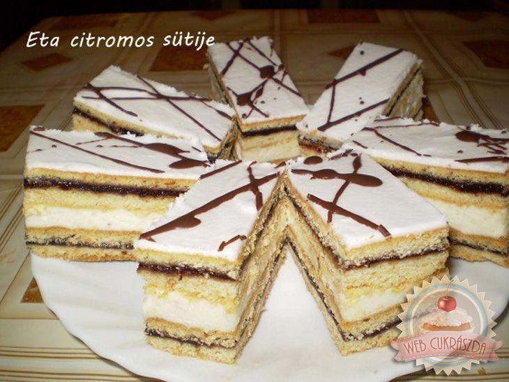 Citromos-szilvalekváros sütemény