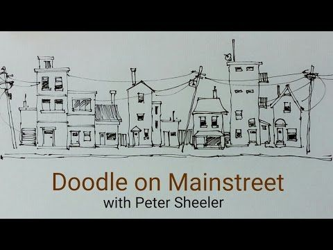 ▶ How to Draw a house, building or street scene. QUICK, EASY AND FUN. With Peter Sheeler - YouTube