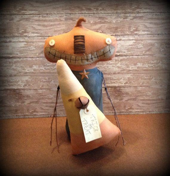 Primitive Pumpkin Head Doll