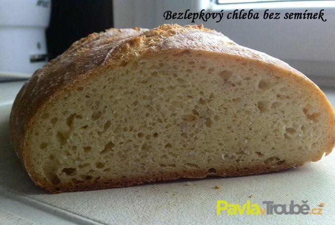 bezlepkový chleba řez - chleba bez semínek