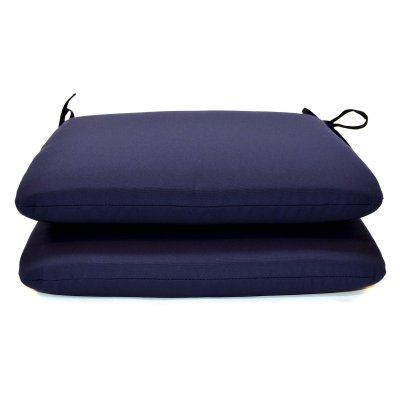 Casual Cushion Sunbrella Solid Color 20 X 18 In Outdoor Seat Pad Set Of 2 Ds2801 3200 2pk Pads And Products