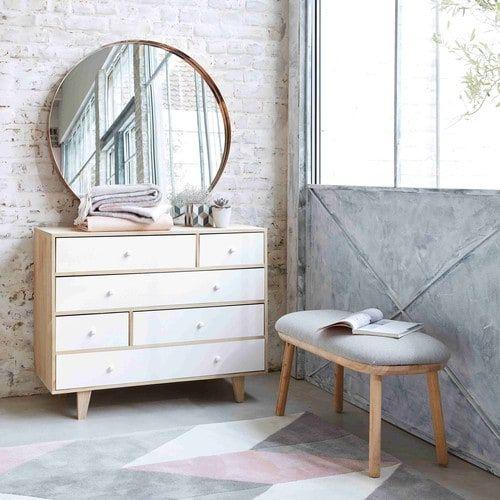 Kommode im Vintage-Stil aus Paulownienholz, B 100cm, weiß Spring | Maisons du Monde