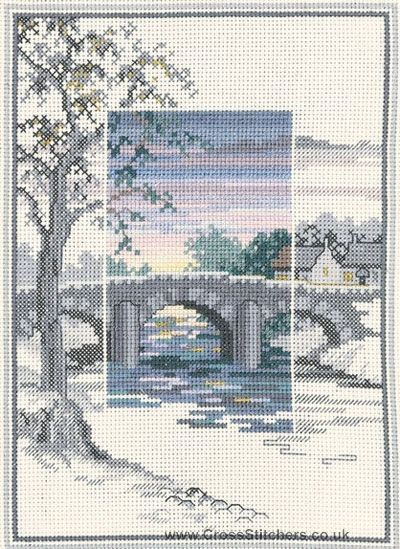 The Old Bridge - Sunsets - Cross Stitch Kit by Derwentwater Designs