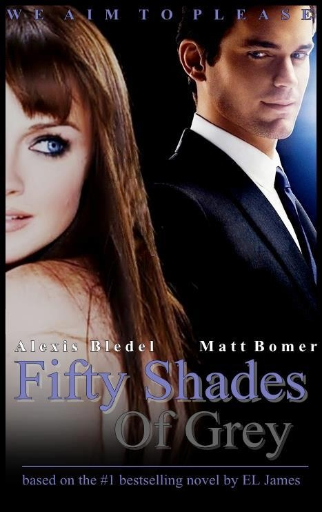 fanmade poster matt bomer as christian grey alexis bledel as anastasia steele. Black Bedroom Furniture Sets. Home Design Ideas