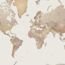World Map Photo Wallpaper | Mr Perswall UK