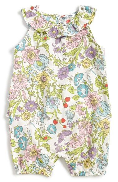Mini boden floral print romper baby girls rompers for Boden jumpsuit