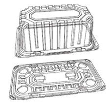 Pjp Marketplace Pactiv Y9519skz Cake Container 10 X 8 X 4