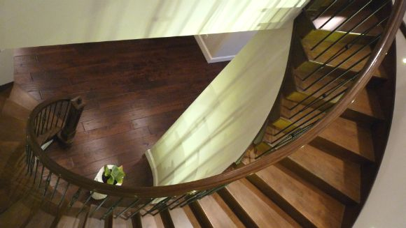 stair railings in Coquitlam home renovation