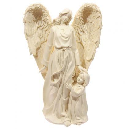 Anděl a dítě, polyresinová soška vysoká 26cm. Krásná vánoční dekorace. Více v kategorii Andělé a cherubíni >> https://cz.pinterest.com/puckatorcz/and%C4%9Bl%C3%A9-a-cherub%C3%ADni/ #vánoce #anděl #christmas #angel