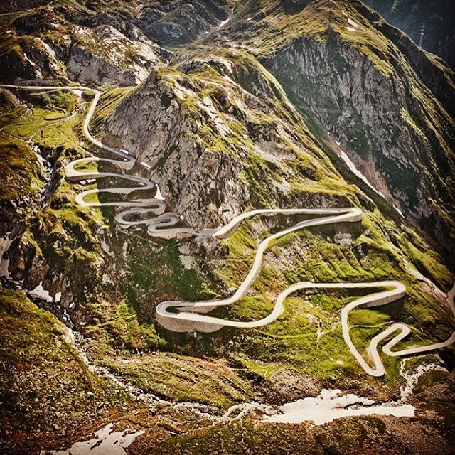 The old time favorite pass in switzerland - the gotthardpass
