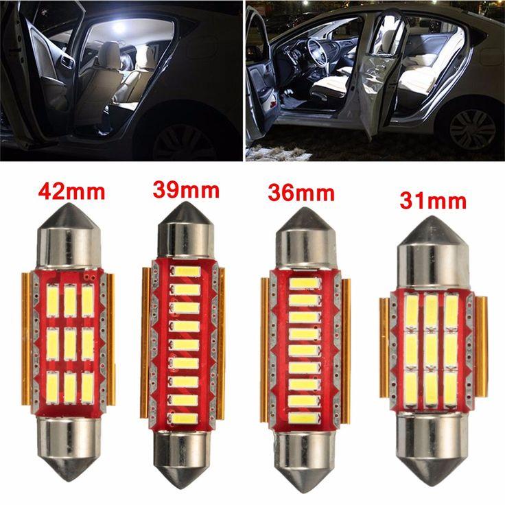 Par de error canbus libres 9 LED focos interiores del coche lectura del adorno de luces de la matrícula