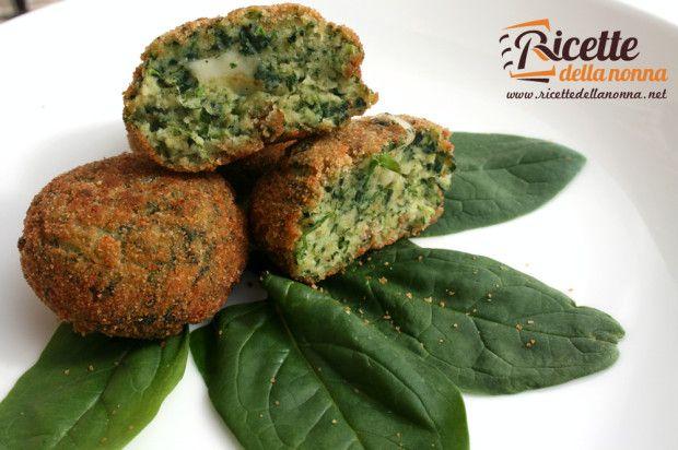 Ricetta polpette spinaci provola