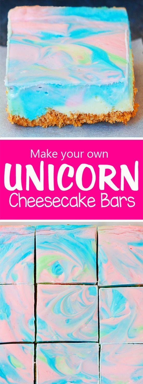 Rainbow Unicorn Cheesecake Bars | Chocolate-Covered Katie | Bloglovin'