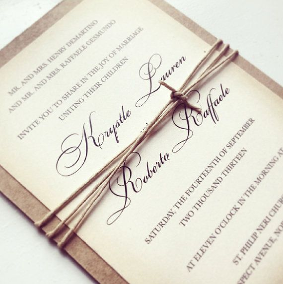 Hey, I found this really awesome Etsy listing at http://www.etsy.com/listing/159155906/rustic-chic-wedding-invitation