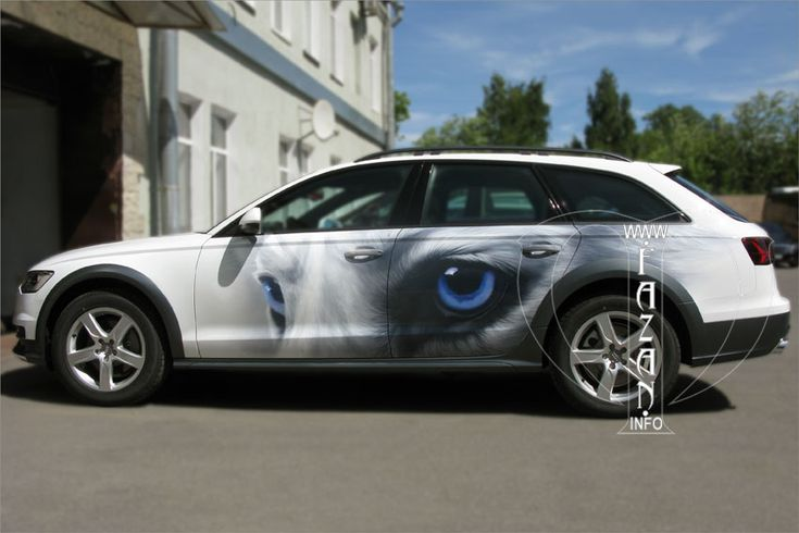 Аэрография на автомобилях. Рисунки на машинах. Хаски. #cars #airbrush #dogs #style #авто #собаки #животные #любимцы #аэрография