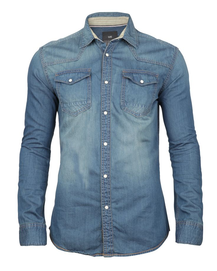 Denim shirt. Great open or closed. Alone or layered.