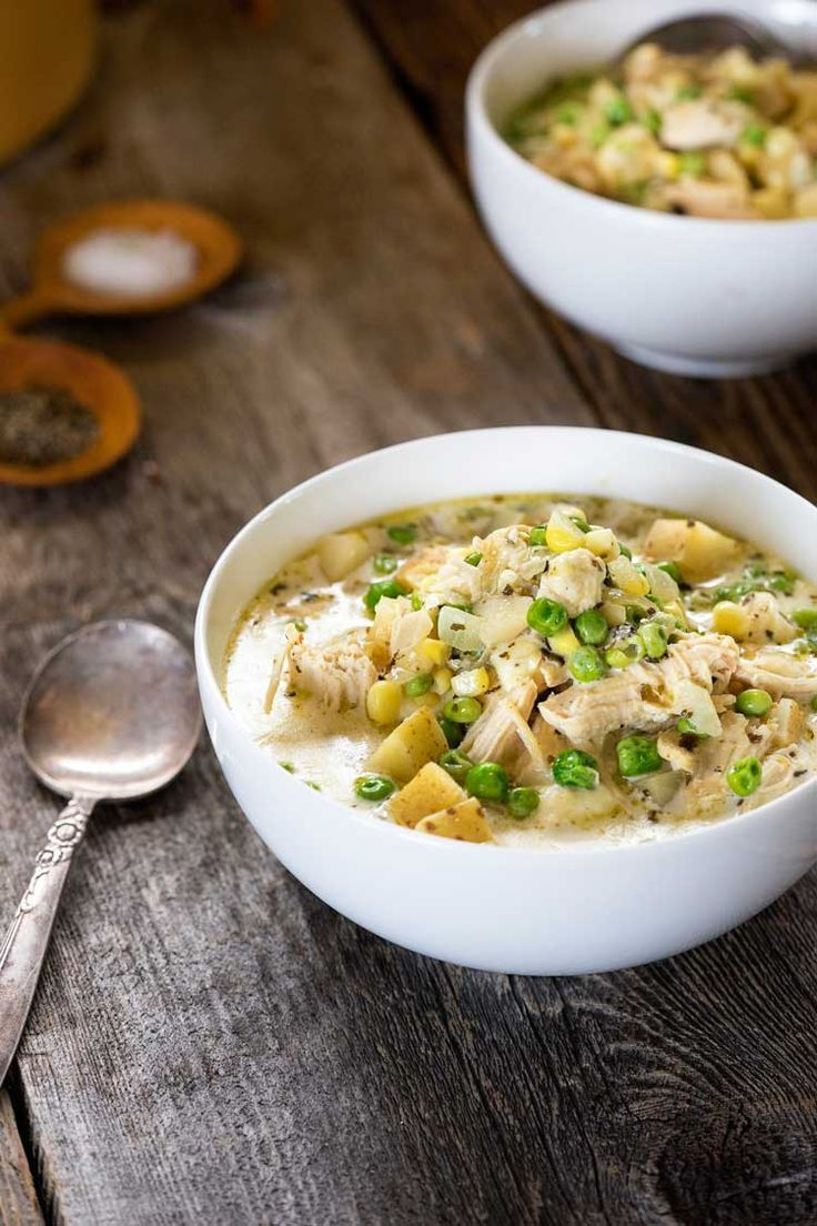 Peruvian Potato Cheese Soup with Chicken