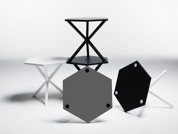 NEB Hexagonal Side Table via noearlybirds. Click on the image to see more!