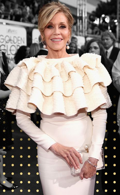 Worst Dressed from Worst Dressed at 2016 Golden Globes  Jane Fonda's dress was a little over-the-top for our liking. Click through the gallery to see more of the worst dressed stars at the 2016 Golden Globes.