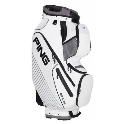 Golf Club Bags 30109: New Ping Golf Dlx Ii Cart Staff Bag 15-Way Top Cooler Pocket White Black -> BUY IT NOW ONLY: $193.99 on eBay!